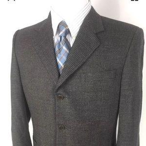 Canali Italy Mens 40R sport coat blazer gray fleck